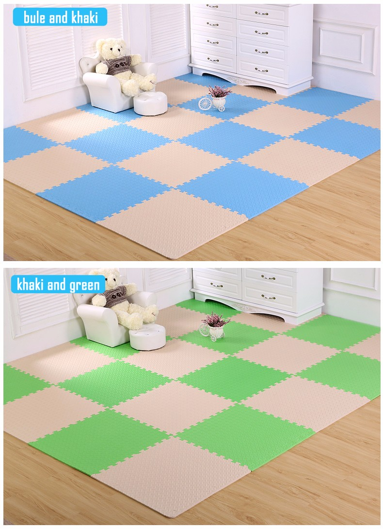 china factory direct Non toxic non slip Foam Play Mats multi color safe play EVA mat for kids