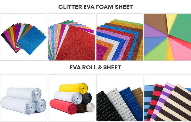 Hot selling camouflage printed glitter eva foam sheet